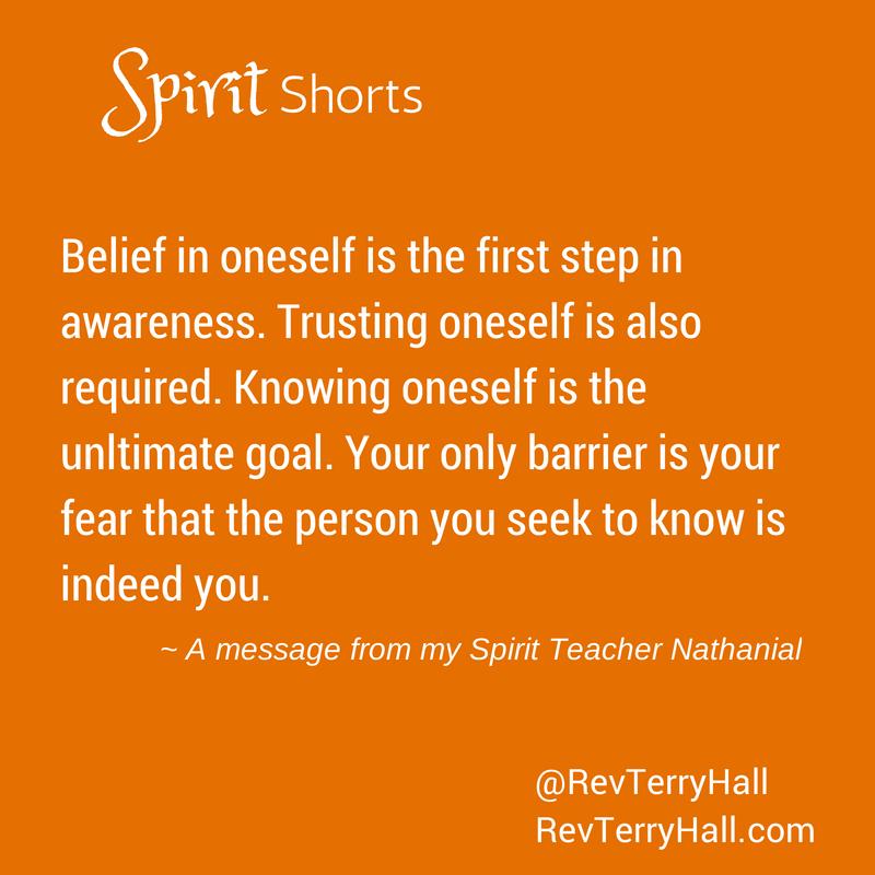 Medium Reverend Terry Hall shares a message from his spirit teacher