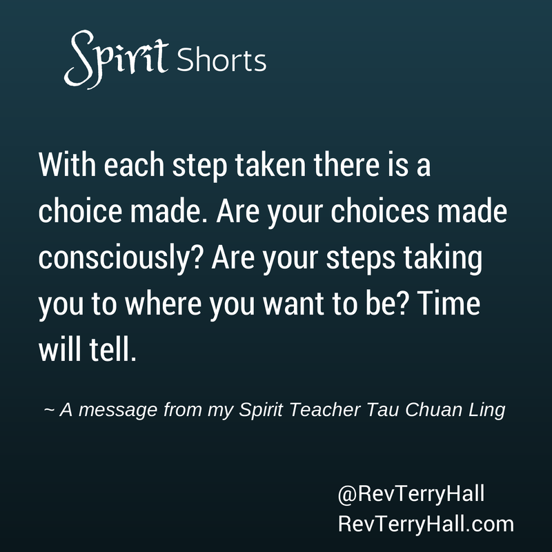 message from spirit about conscious choices