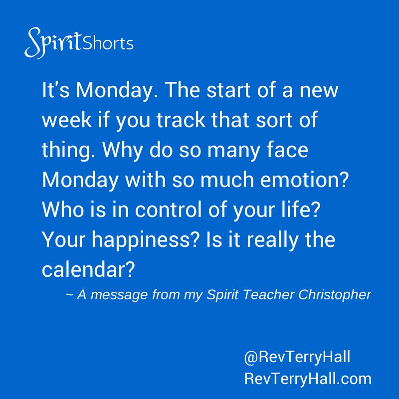 Spiritualist Minister Reverend Terry Hall's teacher Christpoher talks about Monday