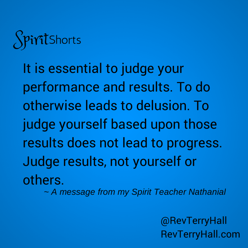 a spiritual quote about judgement and judging
