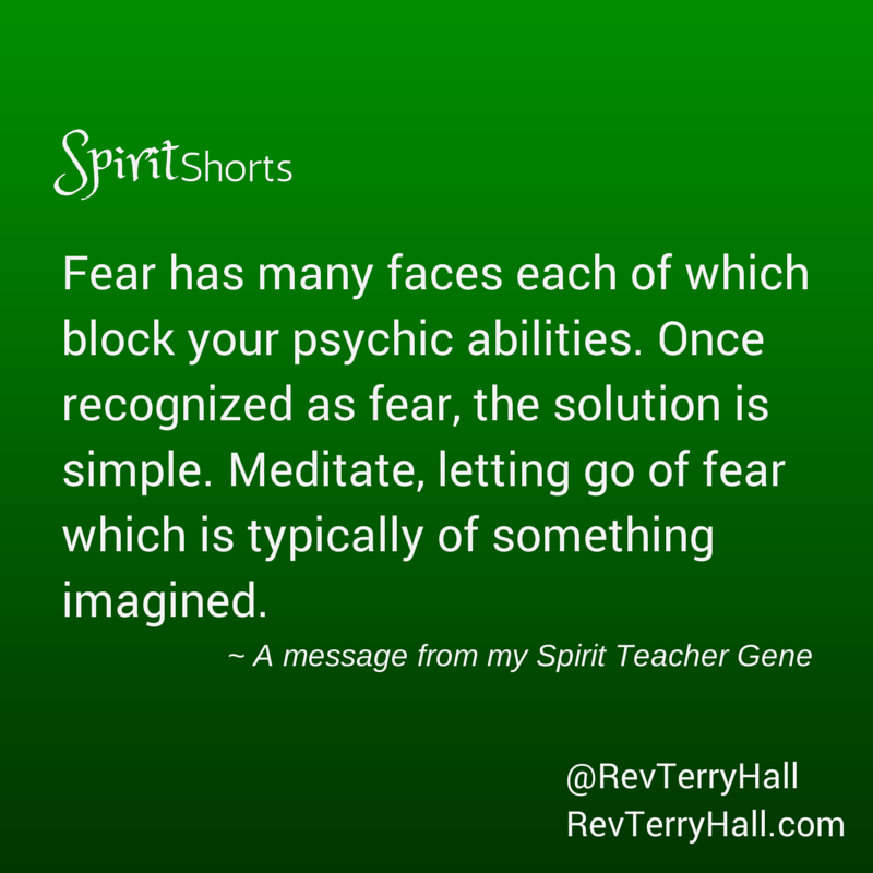a spiritual quote about fear