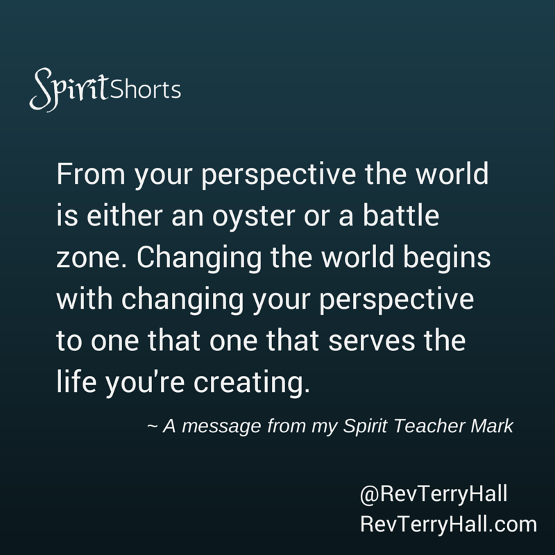 a message from psychic and medium terry hall's spirit teacher mark about changing you life