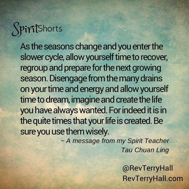 a message from tau chuan ling spirit teacher of medium terry hall