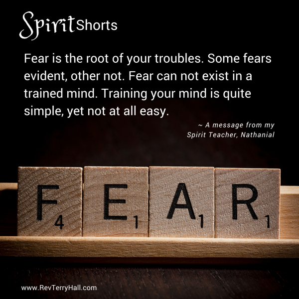Fear is the root of your troubles. Some fears evident, other not. Fear can not exist in a trained mind. Training your mind is quite simple, yet not at all easy.