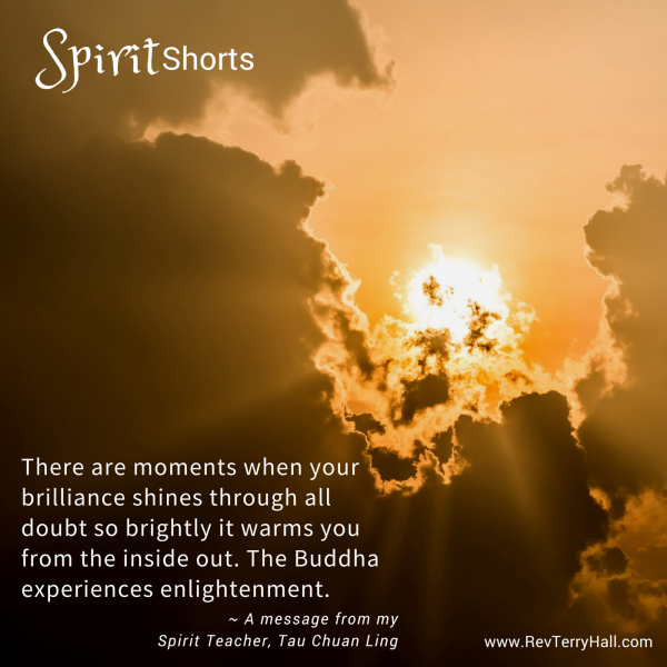 There are moments when your brilliance shines through all doubt so brightly it warms you from the inside out. The Buddha experiences enlightenment.